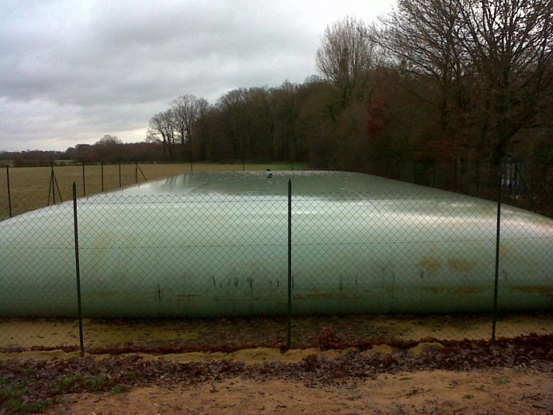 Aire de stockage d'effluents bovins