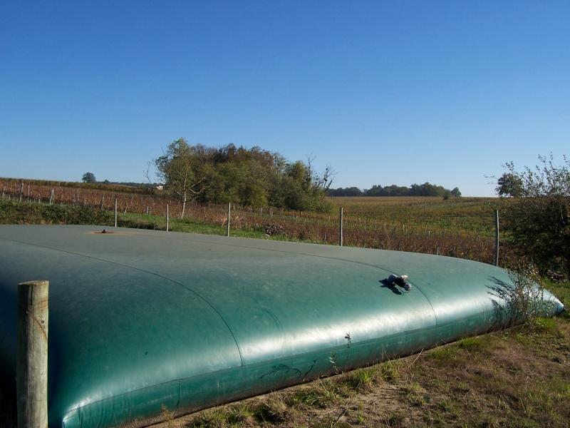 Stockage en toile PVC pour effluents